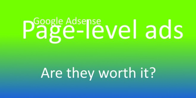 Page-level ads, Google Adsense review, by Luke Otterstad